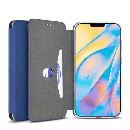 Olixar Soft Silicone iPhone 12 mini Wallet Case - Midnight Blue