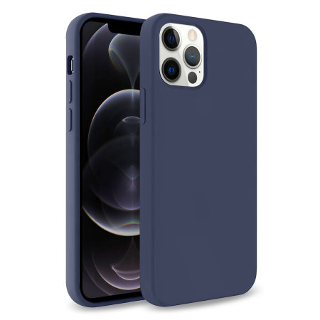 Olixar Soft Silicone iPhone 12 Pro Case - Midnight Blue