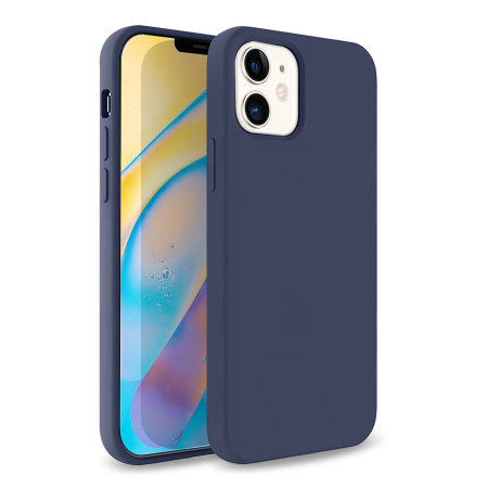 Olixar Soft Silicone iPhone 12 Case - Midnight Blue