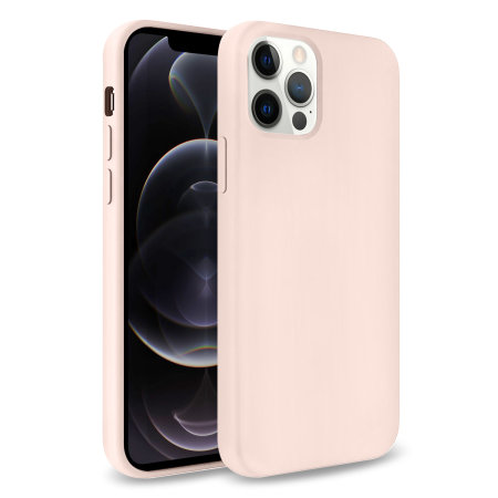 Olixar Soft Silicone iPhone 12 Pro Case - Pastel Pink