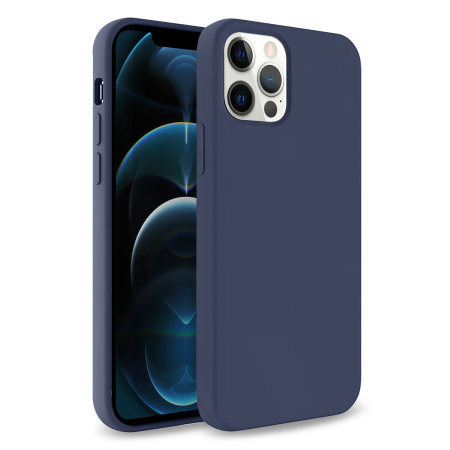 Olixar Soft Silicone iPhone 12 Pro Max Case - Midnight Blue