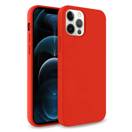 Olixar Soft Silicone iPhone 12 Pro Max Case - Red