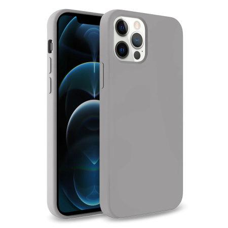 Olixar Soft Silicone iPhone 12 Pro Max Case - Grey