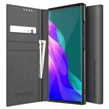 Araree Mustang Diary Samsung Galaxy Note 20 Wallet Folio Case - Grey