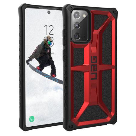 UAG Monarch Samsung Galaxy Note 20 Tough Case - Crimson