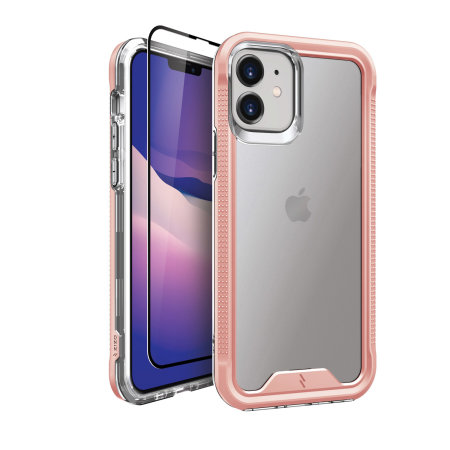 Zizo Ion Series iPhone 12 mini Protective Clear Case - Rose Gold