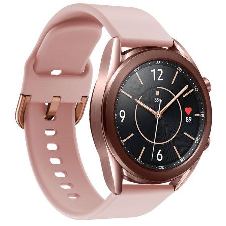 Olixar Soft Silicone Samsung Watch 20mm Strap Rose Gold