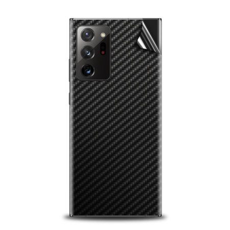 Olixar Samsung Galaxy Note 20 Ultra Phone Skin - Black Carbon Fibre