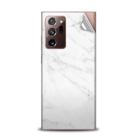 Olixar Samsung Galaxy Note 20 Ultra Phone Skin - Marble White