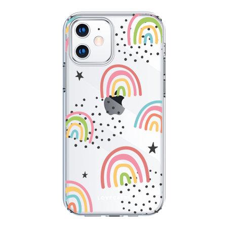 LoveCases iPhone 12 mini Gel Case - Abstract Rainbow