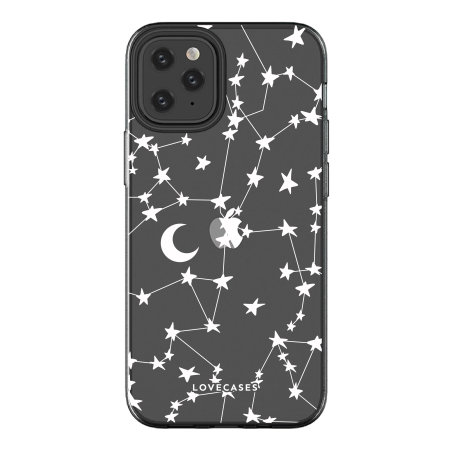 LoveCases iPhone 12 Pro Max White Stars & Moons Case - Clear
