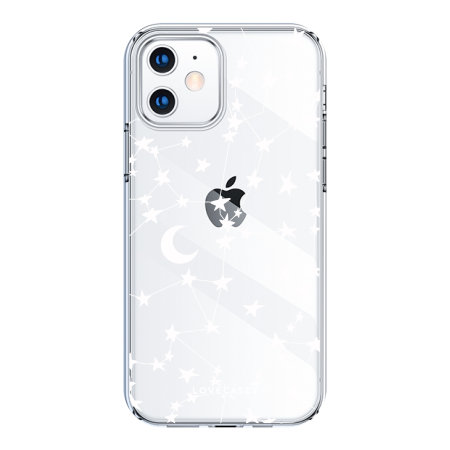 LoveCases iPhone 12 White Stars & Moons Case - Clear