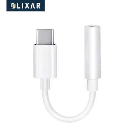 Olixar Samsung Galaxy S20 USB-C To 3.5mm Adapter - White