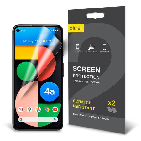 Olixar Google Pixel 4a 5G Film Screen Protector 2-in-1 Pack