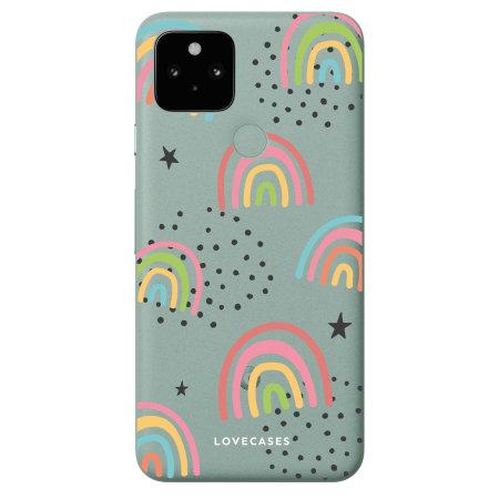 LoveCases Google Pixel 5 Gel Case - Abstract Rainbow