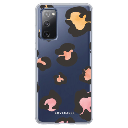 Lovecases Samsung Galaxy S20 FE Coloured Leopard Case - Clear