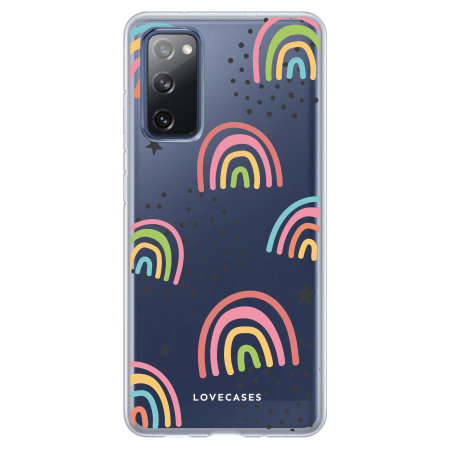 Lovecases Samsung Galaxy S20 FE Abstract Rainbow Case - Clear