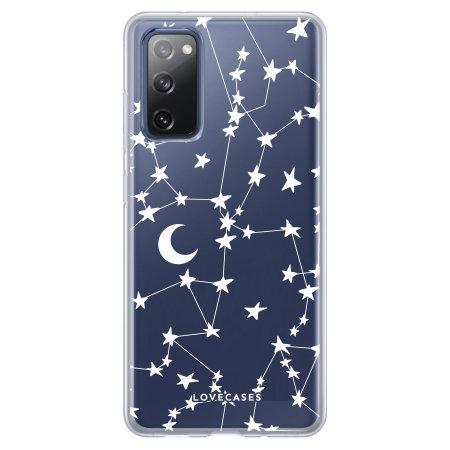 LoveCases Samsung Galaxy S20 FE Gel Case - White Stars & Moons