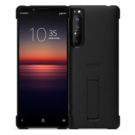 Official Sony Xperia 5 II Style Cover Stand Case - Black
