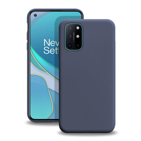 Olixar Oneplus 8T Soft Silicone Case - Midnight Blue