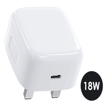 iPhone 12 mini 18W USB-C Super Fast PD Wall Charger - UK Plug - White
