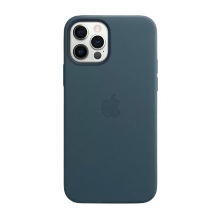 Official Apple iPhone 12 Pro Max Leather Case With MagSafe - Blue