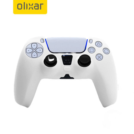 Olixar PS5 Controller Soft Silicone Case - White