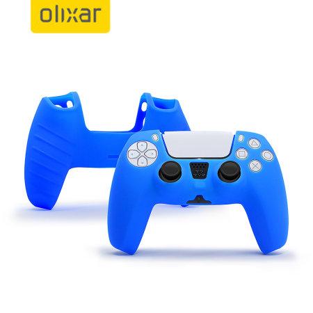 Olixar PS5 Controller Soft Silicone Case - Blue