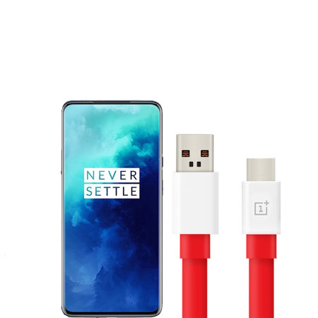 Official OnePlus 7T Pro Warp Charge USB-C Charging Cable 1m - Red