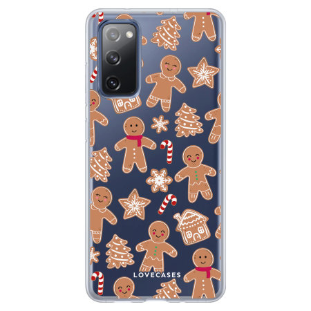 LoveCases Samsung Galaxy S20 FE Gingerbread Christmas Case - Clear