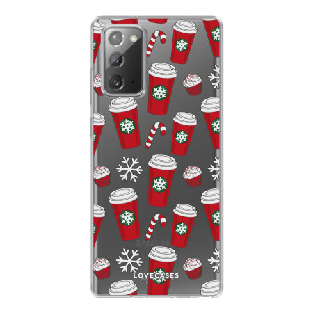 LoveCases Samsung Galaxy Note 20 Christmas Red Cups Case - Clear