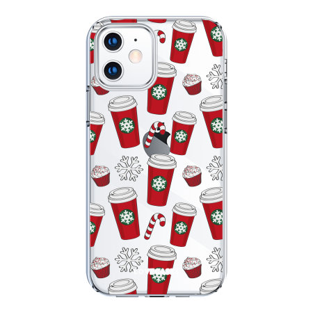 LoveCases iPhone 12 Christmas Red Cups Case - Clear