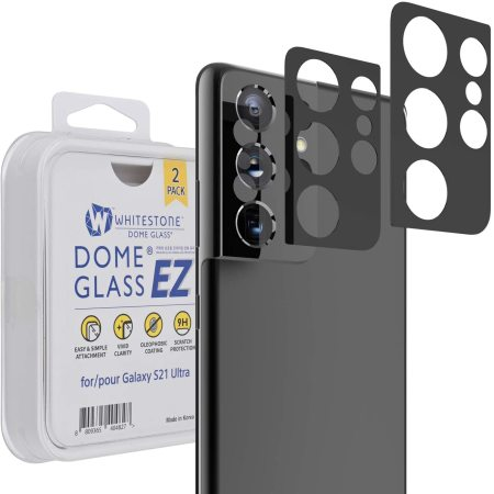 Whitestone Dome EZ Samsung Galaxy S21 Ultra Camera Protector - 2 Pack