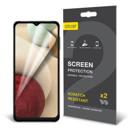 Olixar Samsung Galaxy A12 Film Screen Protector 2-in-1 Pack