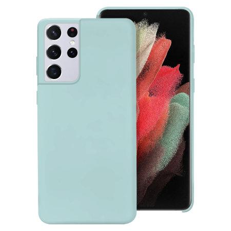 Olixar Samsung Galaxy S21 Ultra Soft Silicone Case - Pastel Green