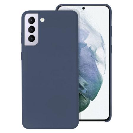 Olixar Samsung Galaxy S21 Plus Soft Silicone Case - Midnight Blue