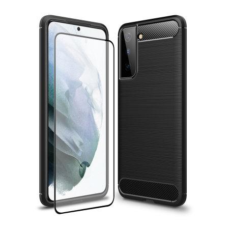 Olixar Sentinel Samsung Galaxy S21 Plus Case & Glass Screen Protector