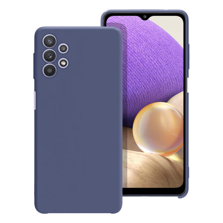 Olixar Samsung Galaxy A32 5G Soft Silicone Case - Midnight Blue