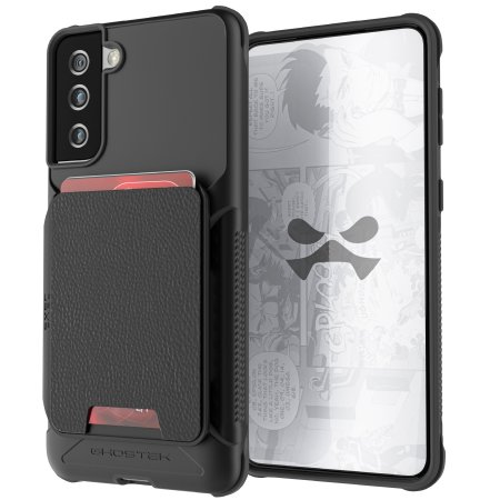 Ghostek Exec 4 Samsung Galaxy S21 Plus Leather Wallet Case - Black