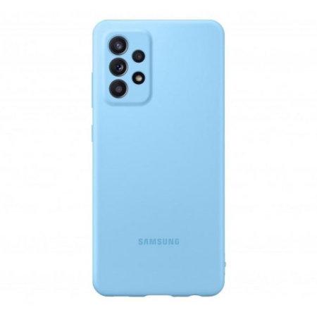 Official Samsung Galaxy A52 Silicone Cover Case - Blue