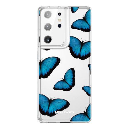 LoveCases Samsung Galaxy S21 Ultra Gel Case - Blue Butterfly