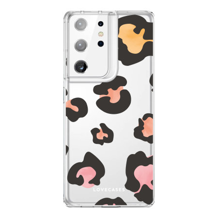 LoveCases Samsung Galaxy S21 Ultra Gel Case - Colourful Leopard