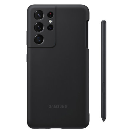 Official Samsung Galaxy S21 Ultra Silicone Case With S Pen - Black