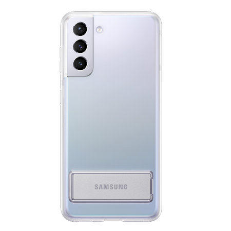Official Samsung Galaxy S21 Clear Standing Cover - Transparent
