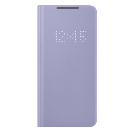 Official Samsung Galaxy S21 LED View Cover Case - Violet