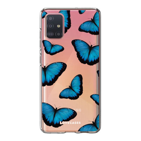 LoveCases Samsung Galaxy A52 Gel Case - Blue Butterfly