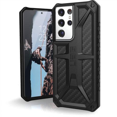 UAG Samsung Galaxy S21 Ultra Monarch Carbon Fiber Case - Black