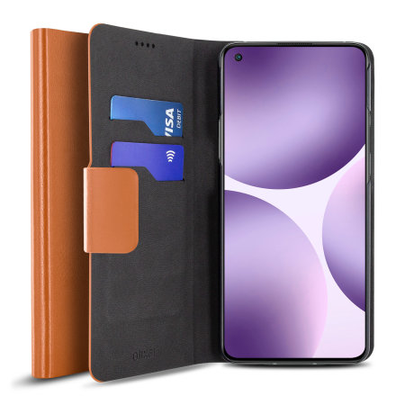 Olixar Leather-Style OnePlus 9 Pro Wallet Stand Case - Brown