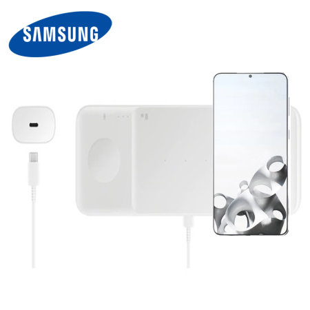 Official Samsung Galaxy S21 Plus Wireless Trio Charger - White