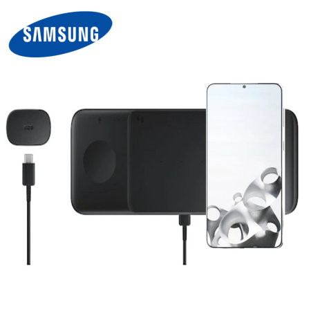 Official Samsung Galaxy S21 Plus Wireless Trio Charger - Black